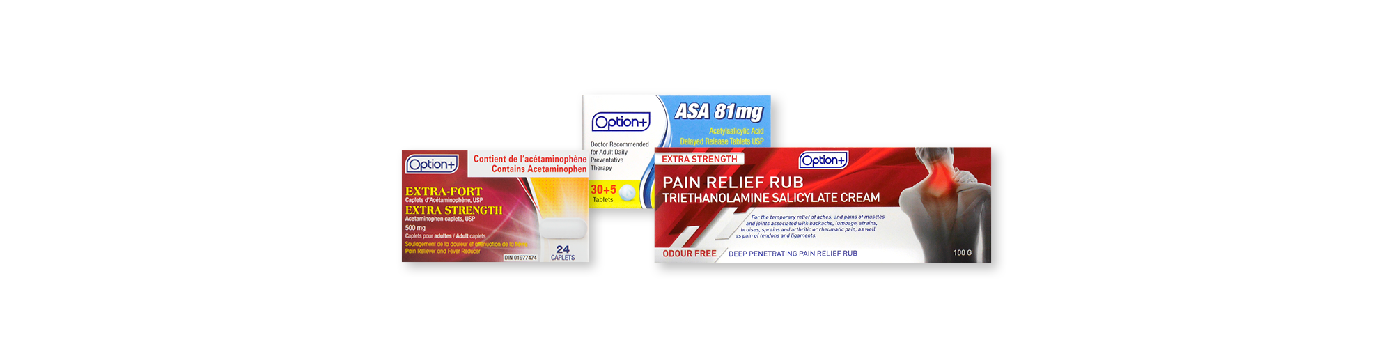 Option+ Pain Relievers