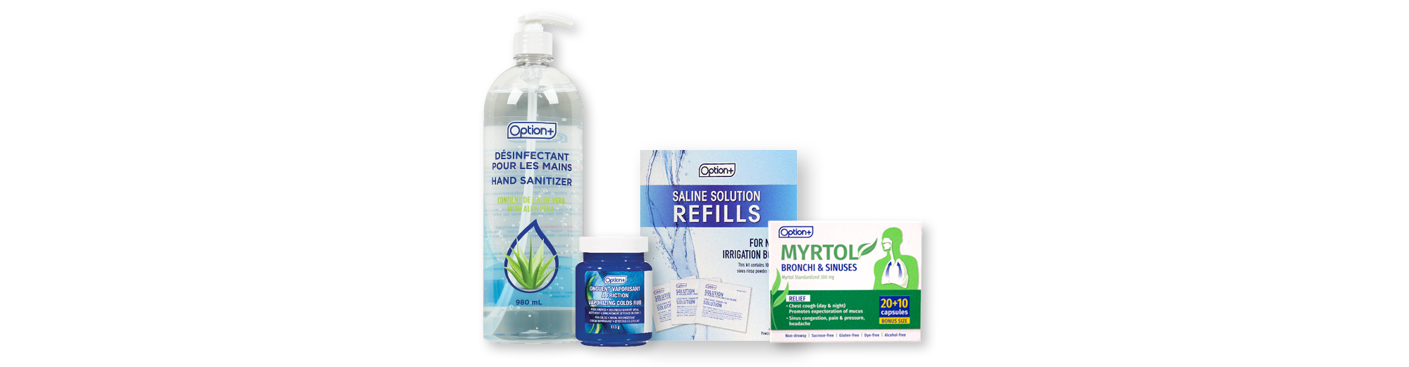 Option+ Cold, Flu, and Allergy Symptom Relief Products